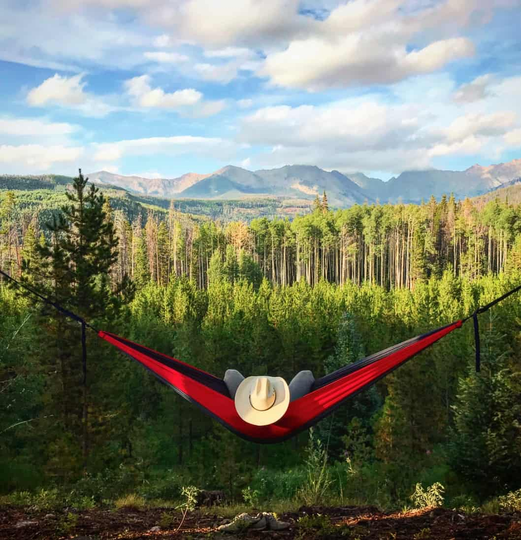Eno hammock for outdoor travel