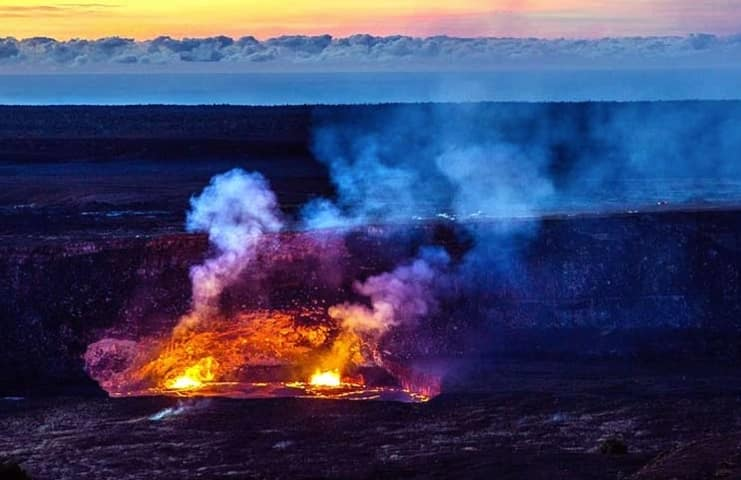 Hawaii Volcanoes National Park is home to two active craters