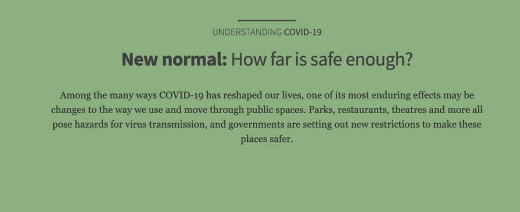 Our New Normal: How Far is Safe Enough? 1