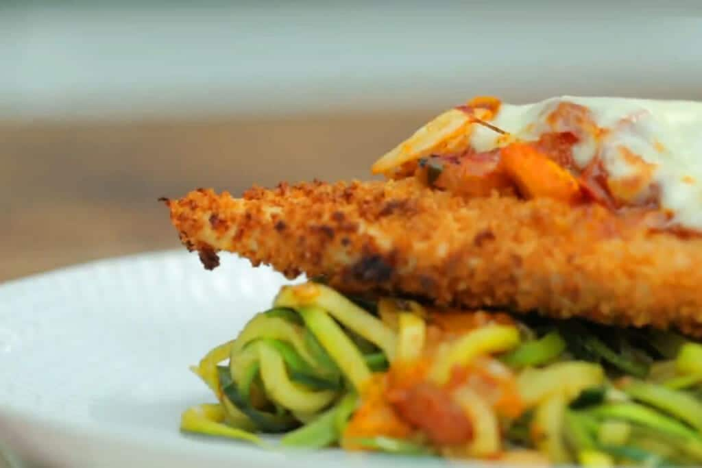 Chicken Parmesan and Zoodles