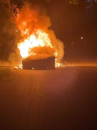 Tesla top-of-range car caught fire while owner was driving, lawyer says 1